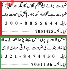 Jang Classified Ad